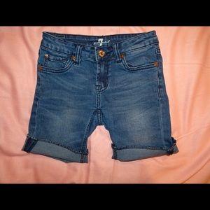 Girls Cuffed Shorts